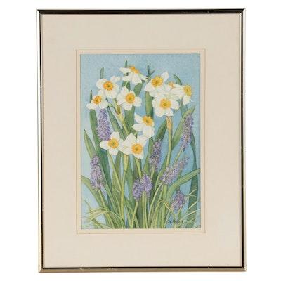 "Jo Ardizzi Watercolor Painting ""Spring"""