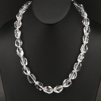 Ippolita Sterling Rock Quartz Crystal Beaded Necklace