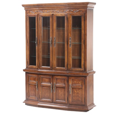Lexington Furniture Inds. by Dixie French Provincial Style Oak China Cabinet