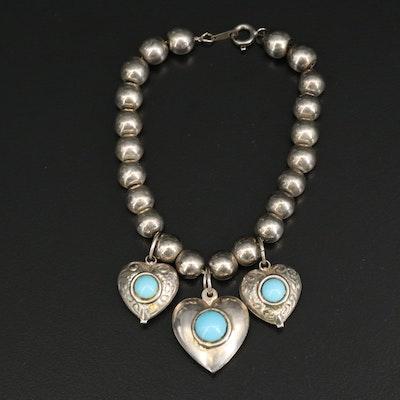 Southwestern Heart Charm Bracelet