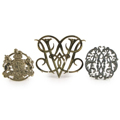 Virginia Metalcrafters for Colonial Williamsburg Cast Iron and Brass Trivets