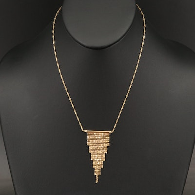 14K Waterfall Necklace