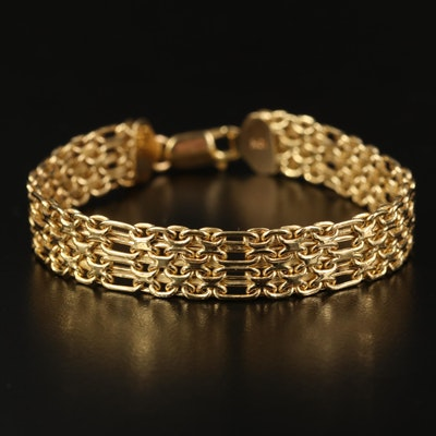 Italian 10K Multi-Row Chain Link Bracelet