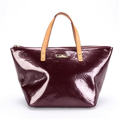 Louis Vuitton Bellevue PM Handbag in Violette Monogram Vernis Leather