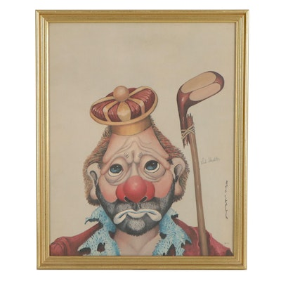 """Red Skelton Offset Lithograph """"King of Golfers,"""" 1972"""