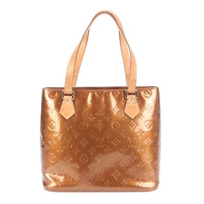 Louis Vuitton Houston Tote in Bronze Vernis and Vachetta Leather