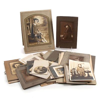 Women's Portrait Silver Gelatin Prints, Platinum Print, and Other Silver Prints