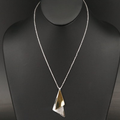 Frederic Duclos Sterling Silver Pendant Necklace