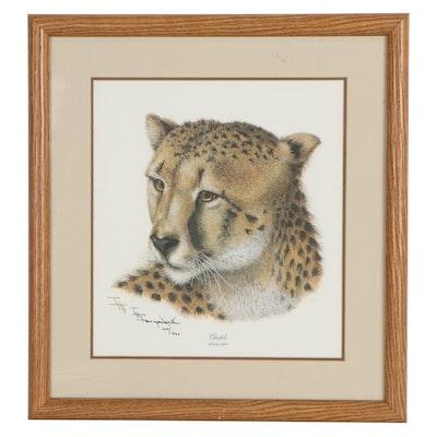 "Imogene Hudson Farnsworth Offset Lithograph ""Cheetah"""