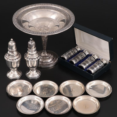 Randahl Sterling Silver Butter Pats with Other Sterling Table Accessories