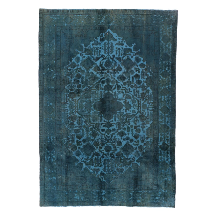 6'5 x 9'3 Hand-Knotted Persian Overdyed Area Rug