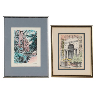 S.E. Miller Hand-Colored Lithograph and Offset Lithograph After R.E. Kennedy