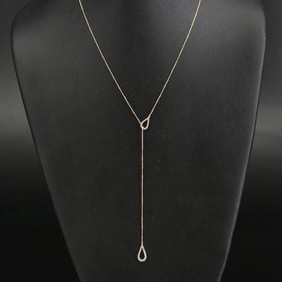 18K Diamond Teardrop Necklace