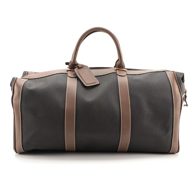 Dunhill Combination Lock Duffel Bag in Coated Canvas with Leather Trim