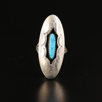 Johnny Manuelito Navajo Diné Sterling Turquoise Ring