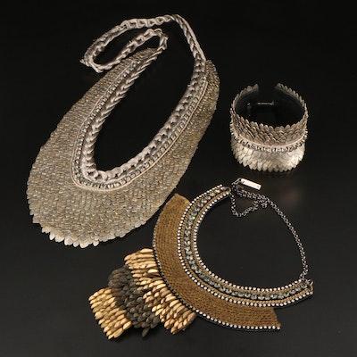 Rhinestone Necklaces and Bracelets Featuring Deepa Gurnani