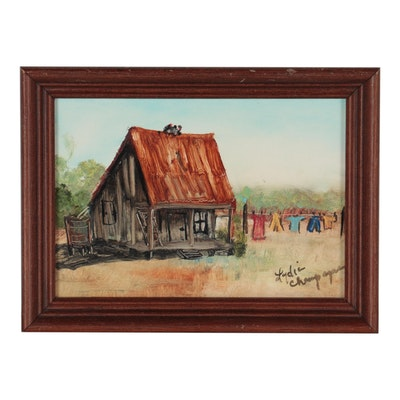 Lydia Champagne Rural Landscape Oil Painting