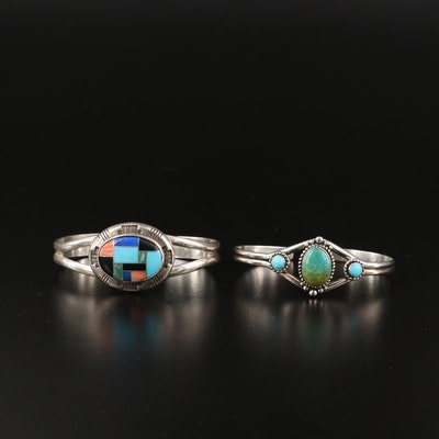 Relios & Quoc Turquoise Inc. Sterling Gemstone Cuffs