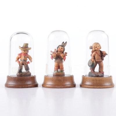 "Juan Ferrandiz for ANRI ""Peace Pipe"", ""Hunter Boy"", and ""El Paso"" Wood Figurines"