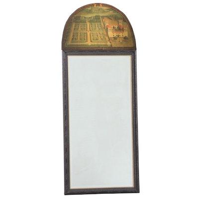 Wall Mirror with Villa dell'Ambrgiana Lunette, Late 20th Century