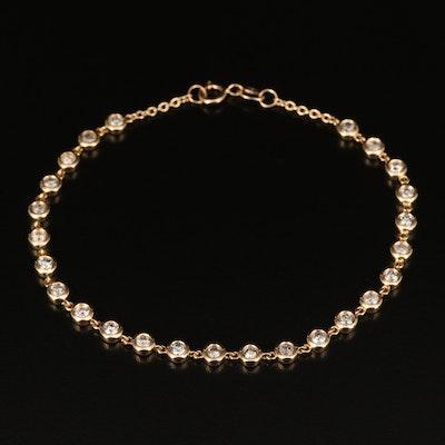 18K 1.50 CTW Bezel Set Diamond Bracelet