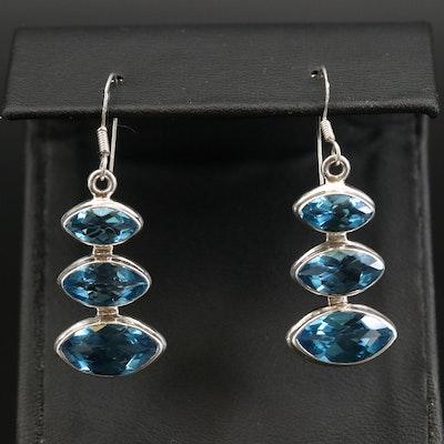 Sterling Swiss Blue Topaz Earrings