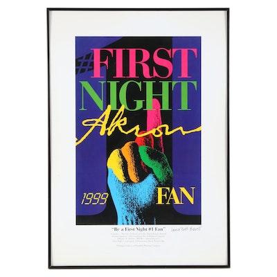 "Laura Ruth Bidwell Giclée ""Be a First Night #1 Fan,"" Circa 1999"