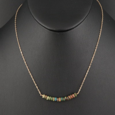 14K Opal Necklace