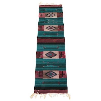 2'6 x 8' Handwoven Southwestern Style Wool Carpet Runner
