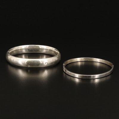 Sterling Silver Hinged Bangles Featuring LeStage