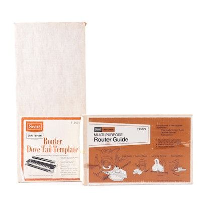 Sears Craftsman Router Accessories Including Dove Tail Template
