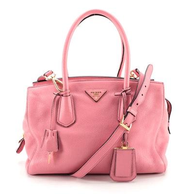 Prada Pink Vitello Daino Leather Two-Way Shoulder Bag