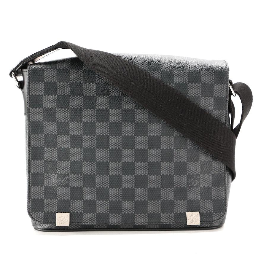 Louis Vuitton District PM Messenger Bag in Damier Graphite Canvas
