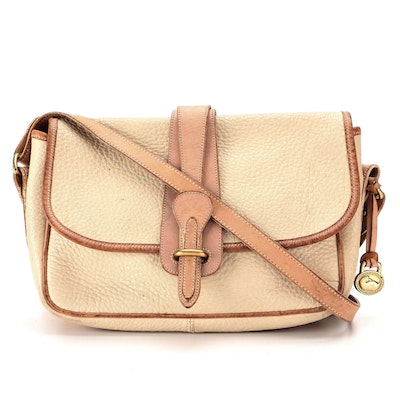 Dooney & Bourke Large Equestrian Crossbody in Tan All-Weather Leather