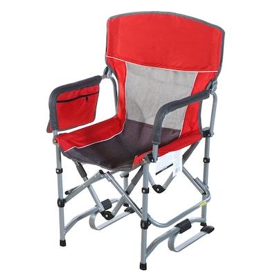 Three Member's Mark Portable Folding Rocking Chairs
