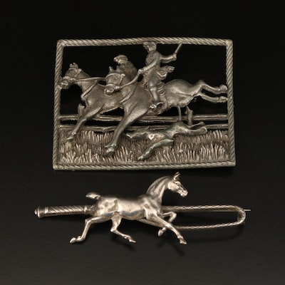 Vintage Equestrian Brooches