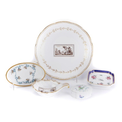 """Richard Ginori """"Fiesole"""" Porcelain Scalloped Dish, Scoop and Other Tableware"""