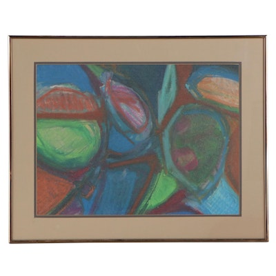 """Mary Ann Roach Butkovich Mixed Media """"Still Life with Fruit,"""" 1980"""