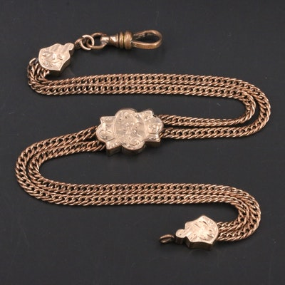 Victorian Double Curb Watch Chain