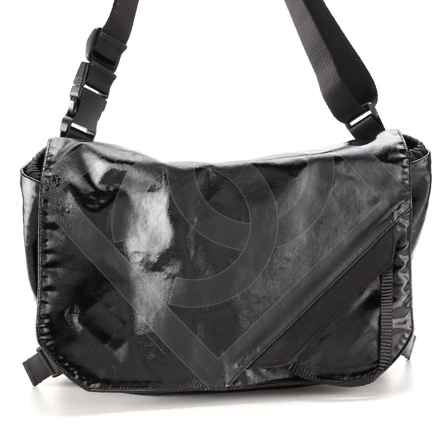 Chanel Sport Line Messenger Bag in Black Coated Nylon