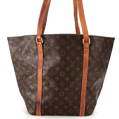 Louis Vuitton Sac Shopping Tote in Monogram Canvas and Vachetta Leather