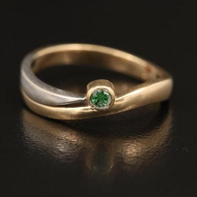 14K Tsavorite Garnet Ring