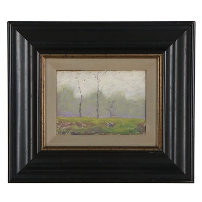 Impressionist Style Landscape Oil Painting, Mid-Late 20th Century