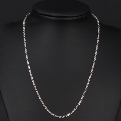 Italian 18K Cable Link Necklace