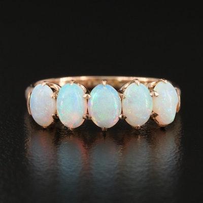 10K Opal Five Stone Band