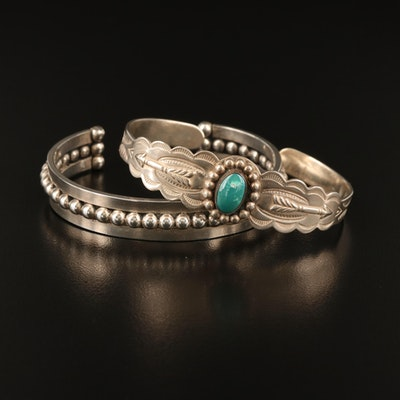 Southwestern Sterling Cuffs Including Sonja and Turquoise