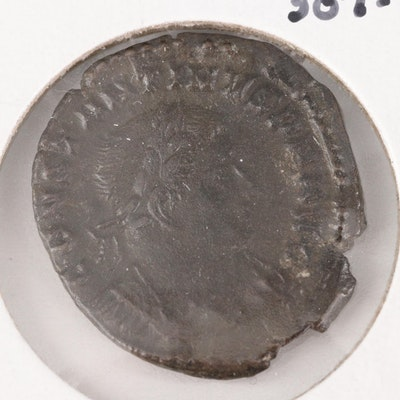 Ancient Roman Imperial AE Follis Coin of Constantine I, ca. 307 AD