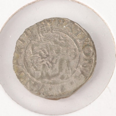Hungary AR Denar Coin of Maximilian II, ca. 1575