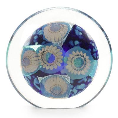 """Robert Eickholt Handblown """"Deep Sea"""" Art Glass Paperweight, 2008"""