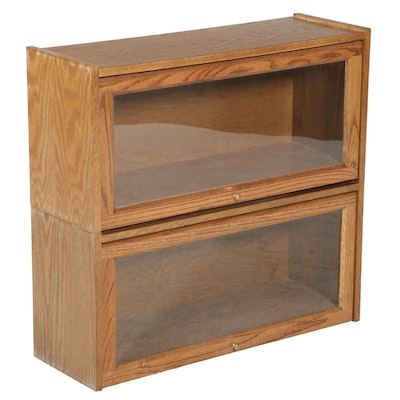 Two-Section Oak Barrister's Bookcase